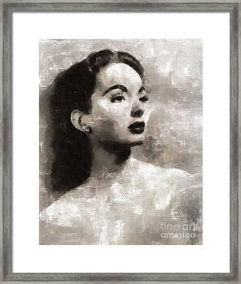 Ann Blyth, Actress Framed Print by Mary Bassett