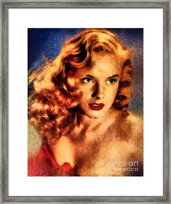 Ann Francis, Vintage Hollywood Actress Framed Print by John Springfield