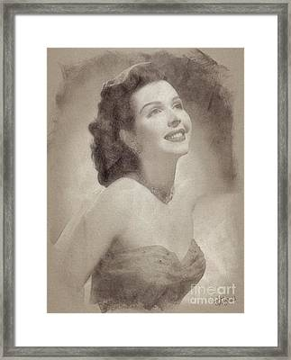 Ann Miller, Vintage Hollywood Actress Framed Print by John Spirngfield