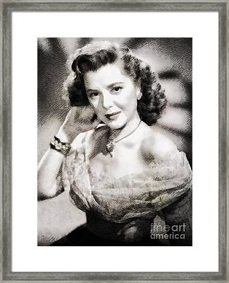 Ann Rutherford, Vintage Actress By John Springfield Framed Print by John Springfield