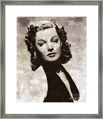 Ann Sheridan, Vintage Actress By Mary Bassett Framed Print by Mary Bassett