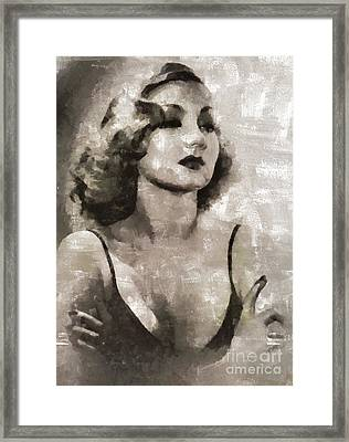 Ann Sothern, Actress Framed Print by Mary Bassett