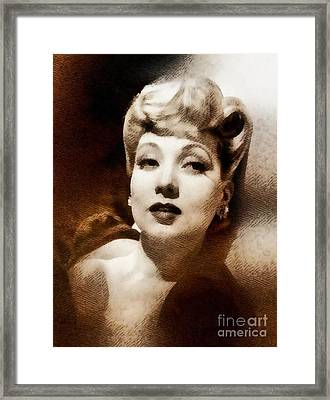 Ann Sothern, Vintage Actress By John Sothern Framed Print by John Springfield