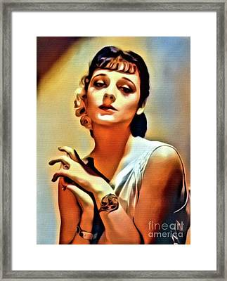 Ann Souther, Vintage Actress. Digital Art By Mb Framed Print by Mary Bassett