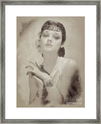 Ann Southerm, Vintage Actress By John Springfield Framed Print by John Springfield