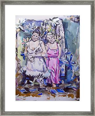 Anna And Annie Framed Print by Lucia Hoogervorst