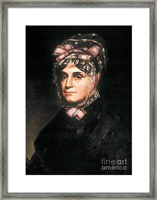 Anna Harrison, First Lady Framed Print