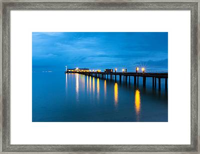 Framed Print featuring the photograph Anna Maria City Pier by Patrick Downey
