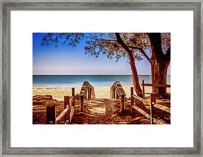 Anna Maria Island Beach Fl Framed Print