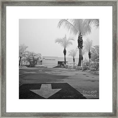 Anna Maria Island Branch Library In Fog Infrared 50 Framed Print by Rolf Bertram