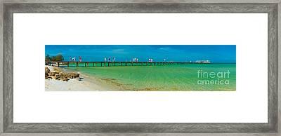 Anna Maria Island Historic City Pier Panorama Framed Print