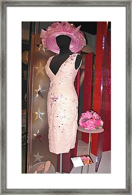 Anna Nicole Smith's Kentucky Derby 2004 Dress And Hat Framed Print