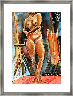Anna Nude Framed Print by Ion vincent DAnu