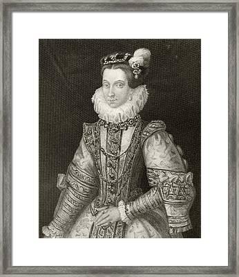 Anna Of Austria, 1549 To 1580. Queen Framed Print