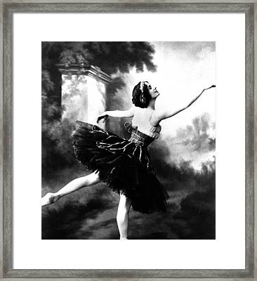 Anna Pavlova Framed Print by French School