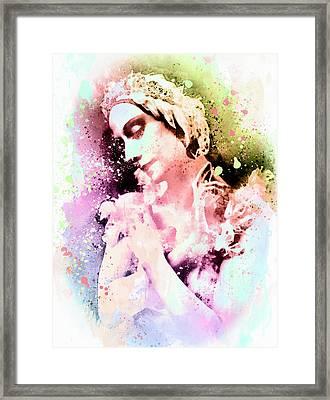 Anna Pavlova Whimsical Ballerina Framed Print by Georgiana Romanovna