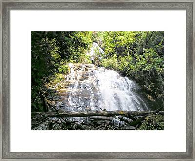 Framed Print featuring the photograph Anna Ruby Falls by Jerry Battle