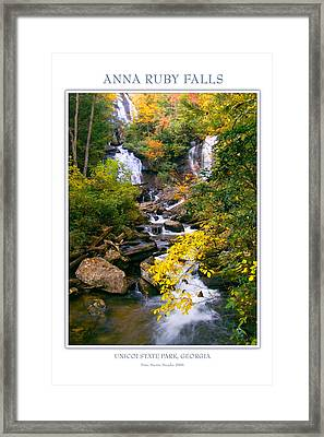 Anna Ruby Falls Framed Print by Peter Muzyka
