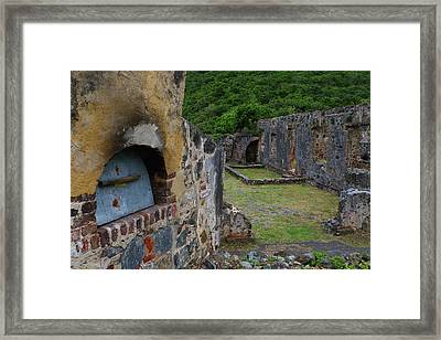 Framed Print featuring the photograph Annaberg Sugar Mill Ruins At U.s. Virgin Islands National Park by Jetson Nguyen