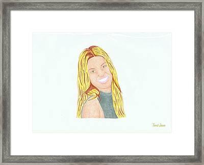 Annalynne Mccord Framed Print