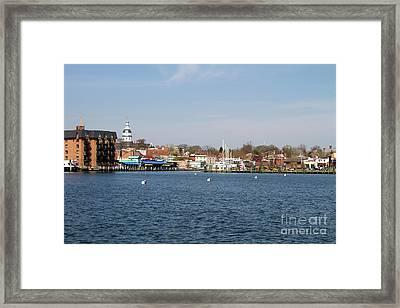 Annapolis City Skyline Framed Print