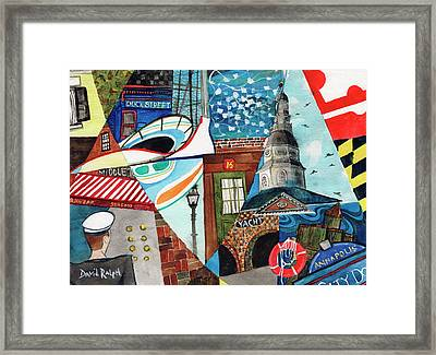 Annapolis Dock Dine Assemble Framed Print