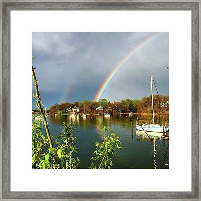 Annapolis Double Rainbow Framed Print by Angelica Demiris
