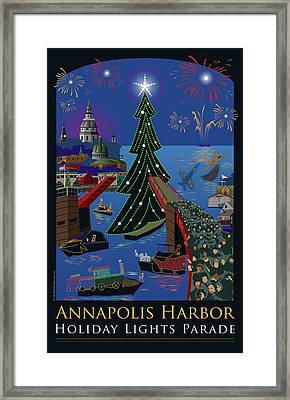 Annapolis Holiday Lights Parade Framed Print