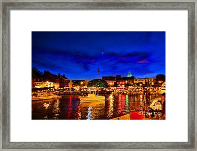 Annapolis Magic Night Framed Print by Olivier Le Queinec