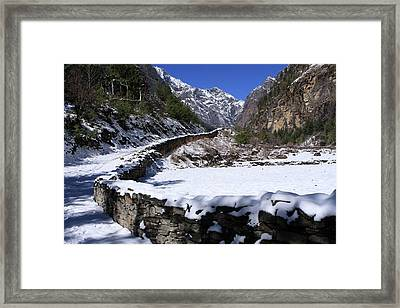 Framed Print featuring the photograph Annapurna Circuit Trail by Aidan Moran