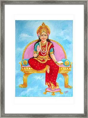 Annapurna Devi Framed Print by Kalpana Talpade Ranadive