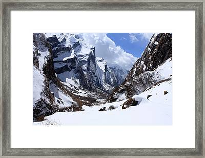 Annapurna Mountain Trail Framed Print