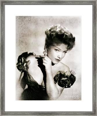 Anne Baxter, Vintage Hollywood Actress Framed Print