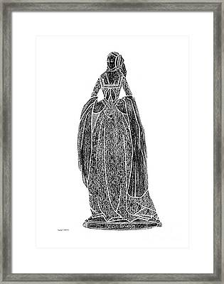 Anne Boleyn Brass Rubbing Framed Print