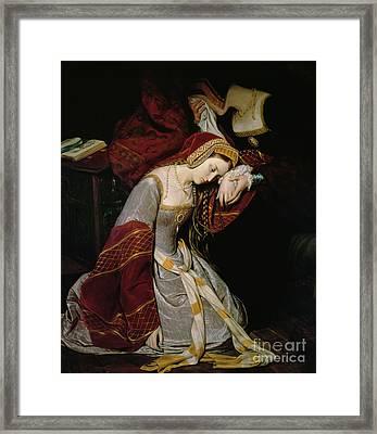 Anne Boleyn In The Tower Framed Print