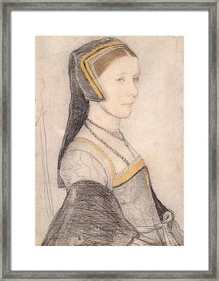 Anne Cresacre Framed Print by Hans Holbein the Younger
