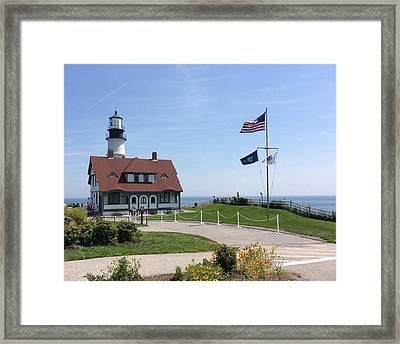 Portland Lighthouse ----- Edit Framed Print