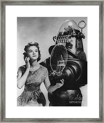 Anne Francis Movie Photo Forbidden Planet With Robby The Robot Framed Print