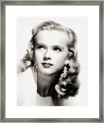 Anne Francis, Vintage Actress By John Springfield Framed Print by John Springfield