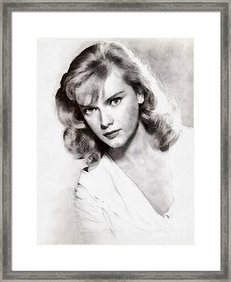 Anne Francis, Vintage Actress Framed Print by John Springfield