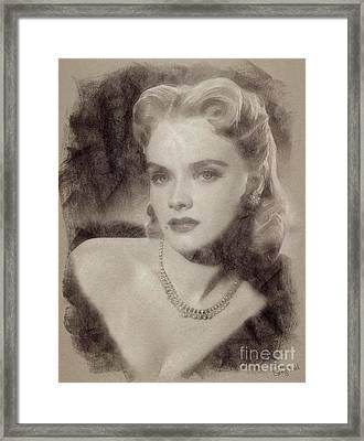 Anne Francis, Vintage Hollywood Actress Framed Print by John Spirngfield