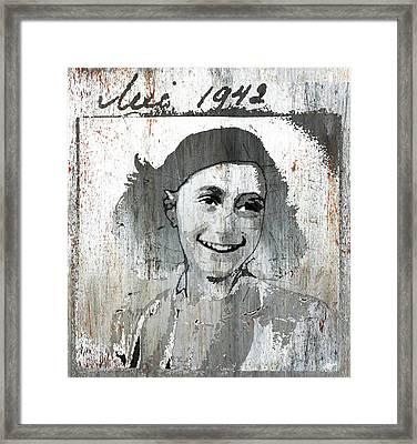Anne Frank 2 Framed Print by Tony Rubino