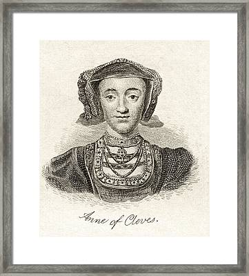 Anne Of Cleves 1515  1557 Queen Consort Framed Print