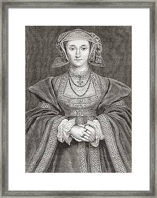 Anne Of Cleves, 1515 Framed Print