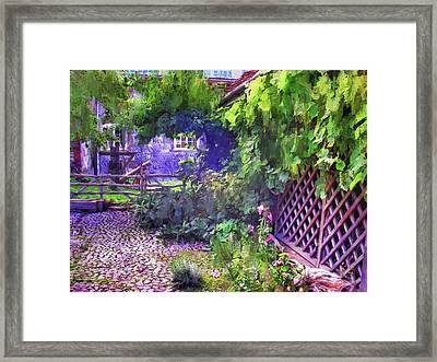 Anne Of Cleves Cottage Garden Framed Print by Connie Handscomb
