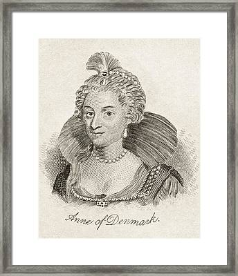 Anne Of Denmark 1574-1619 Queen Consort Framed Print by Vintage Design Pics