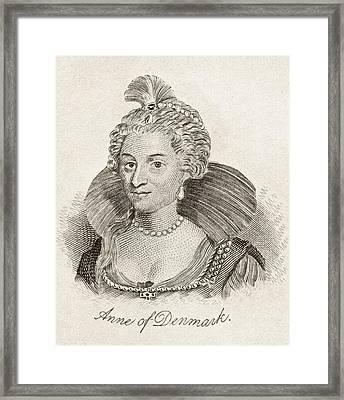 Anne Of Denmark 1574-1619 Queen Consort Framed Print