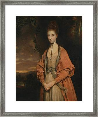 Anne Seymour Damer  Framed Print by Joshua Reynolds