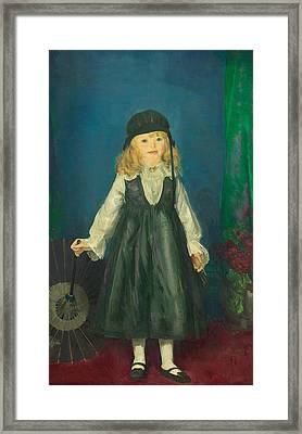 Anne With A Japanese Parasol Framed Print by George Bellows