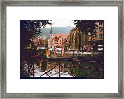 Annecy France Village Scene Framed Print